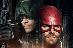 Arrow Flash Crossover 8k Wallpaper