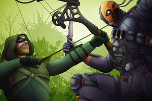 Arrow Vs Deathstroke 4k Wallpaper