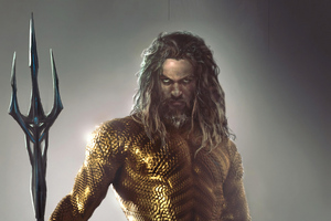 Art Aquaman 4k New Wallpaper