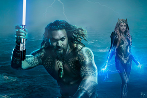 Art Aquaman And Mera Wallpaper