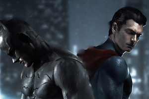 Art Batman And Superman