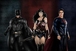 Art Batman Superman Wonder Woman