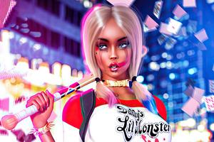 Art Harley Quinn Cosplay Wallpaper