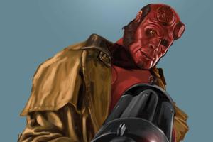 Art Hellboy Wallpaper