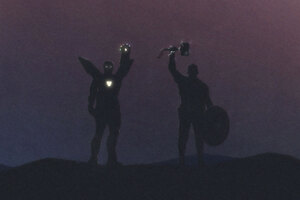 Art Iron Man And Captain America Wallpaper