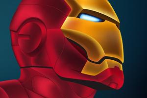 Art Iron Man Closeup