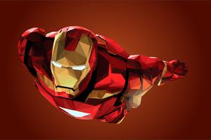Art Iron Man Low Poly