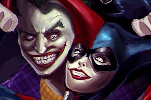Art Joker And Harley Quinn