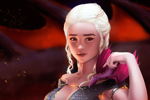 Art Mother Of Dragons Wallpaper