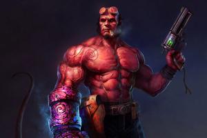 Art New Hellboy Wallpaper