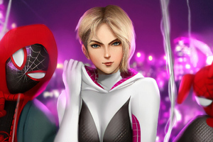 Art Spider Gwen HD Wallpaper