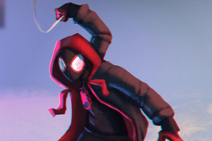 Art Spiderman Miles Morales 4k Wallpaper