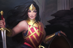Art Wonder Woman Warrior Wallpaper