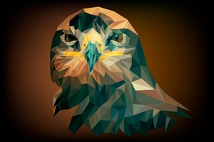 Artistic Abstract Owl Wallpaper