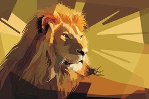 Artistic Lion