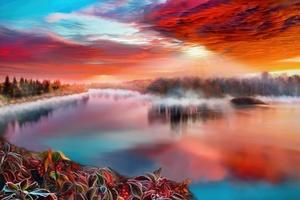 Artistic River Wallpaper