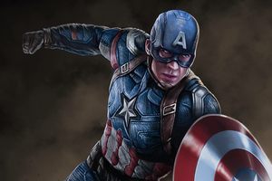 Arts Captain America New