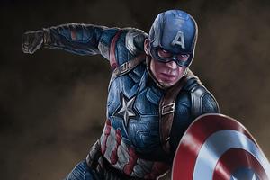 Arts Captain America New Wallpaper