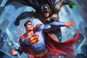 Artwork Batman Superman Fight