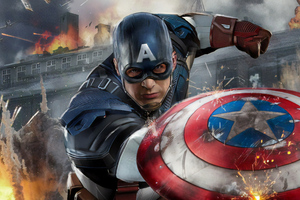 Artwork Captain America New Wallpaper