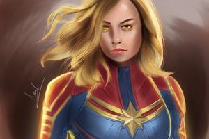 Artwork Captain Marvel 4k