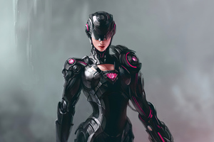 Artwork Cyborg Girl 4k