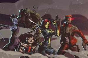Artwork Guardians Of The Galaxy Wallpaper