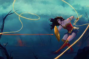 Artwork Of Wonder Woman
