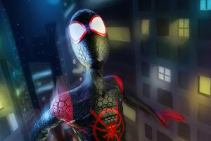 Artwork Spider Man Miles Wallpaper