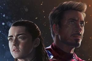 Arya Stark And Iron Man