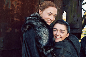 Arya Stark And Sansa Stark Game Of Thrones Season 7 Wallpaper