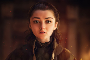 Arya Stark Game Of Thrones Fanart Wallpaper