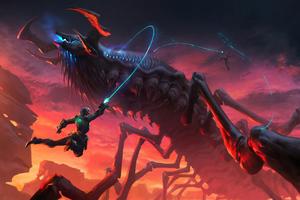 Ascending The Titan Wallpaper