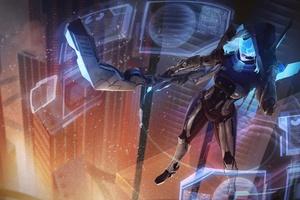 Ashe League Of Legends Artwork Wallpaper