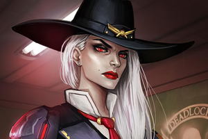 Ashe Overwatch Character Wallpaper