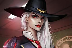 Ashe Overwatch Character Wallpaper