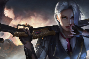 Ashe Overwatch Game Art 4k Wallpaper