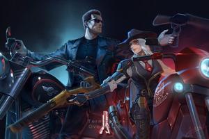 Ashe Terminator Overwatch 4K Wallpaper