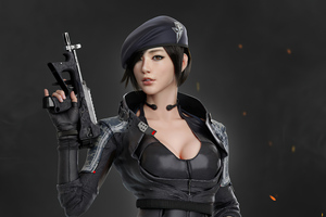Asian Commando Girl 4k Wallpaper