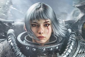 Asian Fighting Nun Warhammer 40k Wallpaper