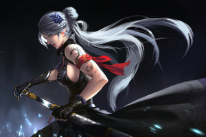 Asian Girl With Sword 4k Wallpaper
