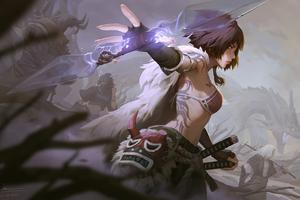Asian Warrior Magic 4k Wallpaper