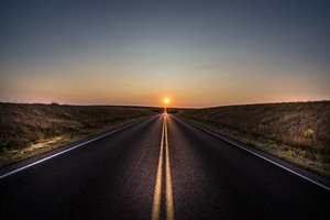 Asphalt Road Landscape 5k Wallpaper