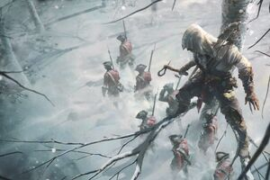 Assassins Creed 3 Key Art 8k Wallpaper