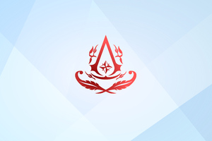 Assassins Creed 4k Minimal Logo 2020