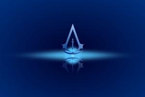 Assassins Creed 4k Minimal Logo Wallpaper
