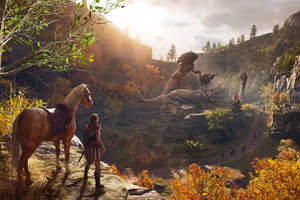 Assassins Creed Odyssey Fallen God Artwork 4k