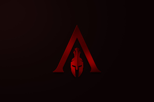 Assassins Creed Odyssey Minimalism Logo 4k