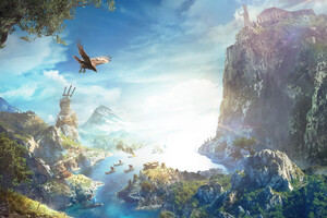 Assassins Creed Odyssey Nature Background Key Art 4k