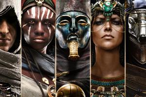 Assassins Creed Origins Characters 4k Wallpaper